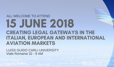 Создание юридических шлюзов на итальянском, европейском и международном авиационных рынках